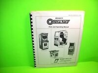 Midway OMEGA RACE Original 1981 Video Arcade Game Service Operational Manual