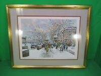 """ANTOINE BOULET """"LA LOUVRE"""" SERIGRAPH SIGNED AND NUMBERED 201/350 COA"""