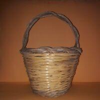 Cesto in Vimini Rattan  Vintage Wicker basket Sicily