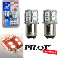 Pilot Automotive 1157 RED LED Light Bulbs pack of 8 - US SELLER with Warranty