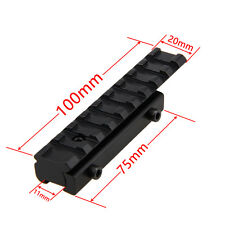 Picatinny Dovetail Weaver Rail Adapter Extend 11mm to 20mm Tactical Scope Mount