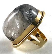 YSL Saint Laurent Bague Cherry gold-plated quartz ring size 7 $595