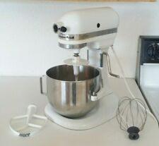 New ListingKitchenAid K5Ss 5 Quart Bowl Lift Stand Mixer + Bowl & 3 Attachments - White