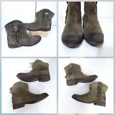 Ralph Lauren Denim & Supply Womens Boots Ankle AUBRIE Sz 7.5 Olive Suede Western