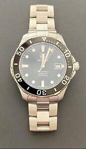 TAG Heuer Calibre 5 Aquaracer Automatic Mens Watch WAN2110 Black 41mm
