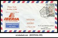 SPAIN - 1981 IBERIA AIRBUS A 300 MALAGA to MADRID - FFC