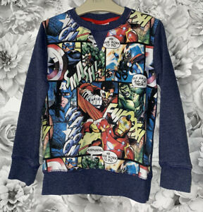 Boys Age 4-5 Years - Next Long Sleeved Sweater Top - Marvel