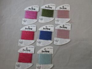 Rainbow Gallery Fyre Werks Soft Sheen  Lot of 8 Asst Colors 10 yds ea NEW  C141