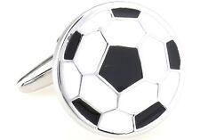 Soccer Ball Cufflinks White Black Wedding Fancy Gift Box Free Ship USA