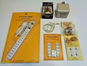 Dollhouse Miniature Electrical Components Transformer and Lamps