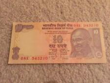 India 10 Rs Descending Order Fancy Number '543210' UNC Condition