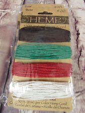 DARICE 100% Natural Hemp Cord #20 Primary Color Style 3 Cards of Cord