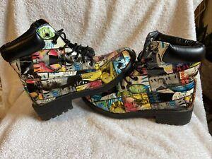 Shoe Republic LA Vogue Magazine Design patent Leather Women's Size 8.5 Boots