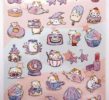 Japanese magical cat stickers! Kawaii galaxy outer space dessert witchy planner