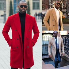 Wool Overcoat Jacket Men Suits Wedding Double Breasted Formal Business Tuxedos