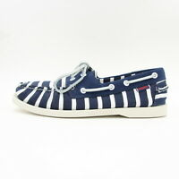New Mens Sebago Docksides Spinnaker Armor Lux Stripe Boat Deck Shoes Blue UK 8.5