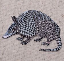 Armadillo - Gray - 9 Nine Banded - Iron On Applique - Embroidered Patch