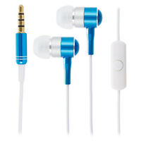 Blue / White Chrome Earphones Headphones for Apple iPhone 6 6s Plus 5s SE iPad