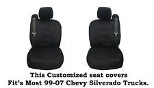 Black Scottsdale Custom seat covers Fit's 1999~2006 Chevy Silverado Truck's