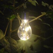 LED Solar Light Bulb Nightlight Camping Hanging Outdoor Garden Rotatable Lamp