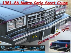 81 82 83 84 85 86 CHEVY MONTE CARLO SPORT COUPE CHROME BUMPER TRIM MOLDING