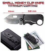 Handcrafted Mini Pocket and Wallet Size Knife - Money Clip