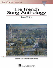 THE FRENCH SONG ANTHOLOGY LOW VOICE VOCAL BOOK NEW