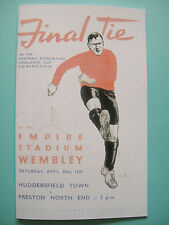 1938 FA Cup final programme,Ticket & free teamsheet Huddersfield v Preston N. E.
