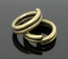500 ANTIQUE BRONZE DOUBLE SPLIT RINGS 5mm x 1.5mm CHARMS~PENDANTS~SEWING (91C)