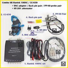 Combo 6B Hantek 1008C CC650 clamp / PP80 probe 2pcs / backpin 2pcs / BNC /HT201