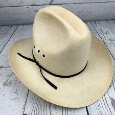 Vintage Resistol Western Hat Self Conforming Shangtung Size 7 1/4  Brim 3  1/2