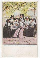 Badische Volkstrachten Markgraeflerinnen aus Muellheim U/B Postcard Germany 395a