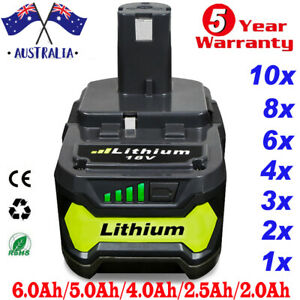 18V 6.0Ah Battery For Ryobi ONE+ PLUS Lithium-ion P108 P105 P104 P102 P107 Tools