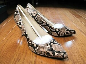 Cole Haan Juliana Pump 75 Size 10 Amphora Snake Print Leather BRAND NEW WITH BOX