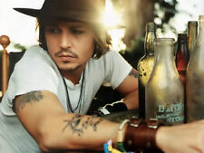 JOHNNY DEPP AMAZING  8x10 PICTURE HOT TATOO CLOSE UP ACTOR