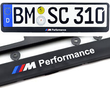 BMW E85 E89 Euro Standart License Plates Frames with ///M Performance Logo 1pcs.