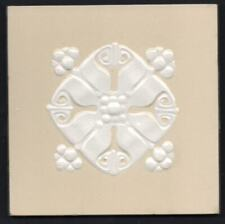 Original c1900 German jugendstil Villeroy & Boch Art Nouveau Majolica tile cream