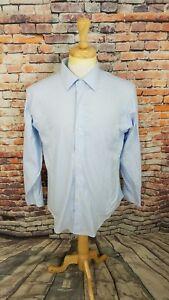 Brooks Brothers 346 Men's NON IRON Blue SLIM FIT Button Up Dress Shirt 16 4/5