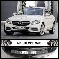 Mercedes C Class W205 S205 Chrome Rear Bumper Protector Scratch Guard S.Steel