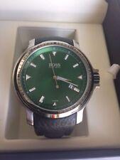 HUGO BOSS DRESS WATCH GREEN DIAL MENS 1512100