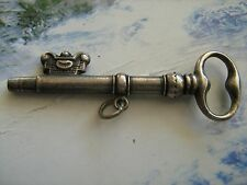 Antique solid silver pocket watch winding key,original XIX century,not bulgarian