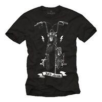 Motorrad T-Shirt Männer Anarchy Rocker Biker Bobber Harley-Chopper Rockabilly