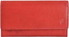 Golunski Rojo Mujer Cuero Suave Rfid 6 Tarjeta Organizador Monedero RF9 en Caja