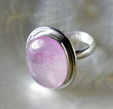Natural Light Pink Onyx Gemstone 925 Sterling Silver Plated Ethnic Ring