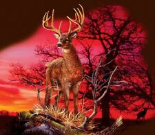 Jigsaw Puzzle Animal Wild Deer Red Sunset Landscape 550 pieces NEW made in USA