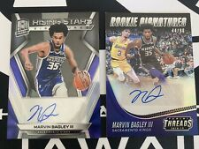 (2) 2018-19 MARVIN BAGLEY RC AUTO Lot Spectra Prizm Rising Stars /75 Threads /90