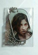 THE WALKING DEAD ZOMBIE WOMAN STARE FACE SEASON 3 #33 TV DOG TAG DOGTAG NECKLACE
