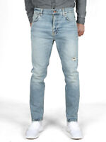 Nudie Herren Regular Tapered Fit Jeans | Brute Knut Pale Surface |Knöchellang