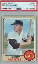 1968 Topps Baseball #280 Mickey Mantle PSA 4 (VG-EX) *6940