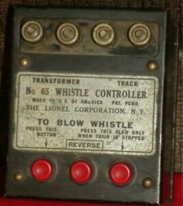 LIONEL - VINTAGE WHISTLE CONTROLLER - O TRAIN